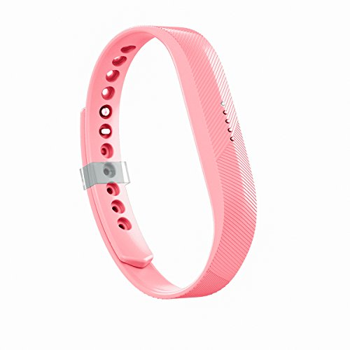 AIUNIT Compatible Fitbit Flex 2 Band, Replacement for Fitbit Flex 2 Accessories Band Pink Large Adjustable Sport Fitness Wristband w/Fastener Clasp for Fitbit Flex 2 Men Women Teens Kids No Tracker