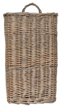 Woven Willow Wall Basket White-Washed Finish Country Primitive Décor