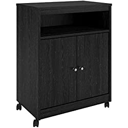 Ameriwood Home 5206026PCOM Landry Microwave Cart, Black Oak