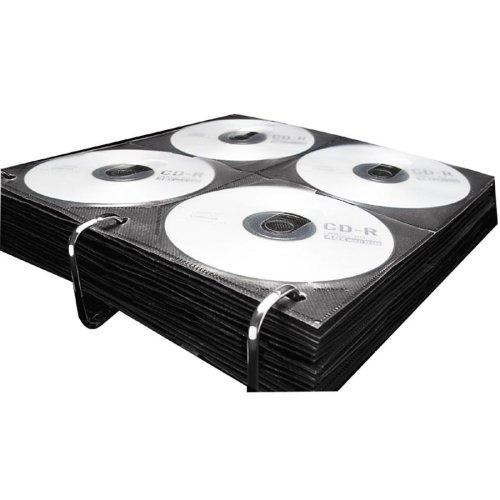 Wholesale CASE of 15 - Ideastream CD Media Library Refill Sheets-Vaultz Media Binder Sleeves,9-3/4''x1/8''x10'',25SH/PK,Black