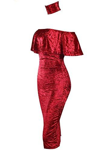 Cocktail Damen Kleid Missord Missord Damen Rot xtqpzwYn