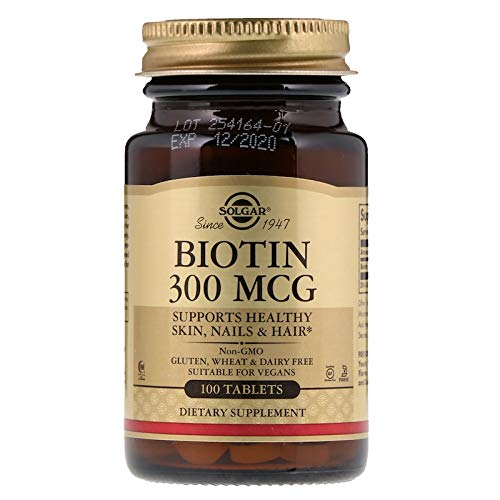 Solgar – Biotin 300 mcg, 100 Tablets