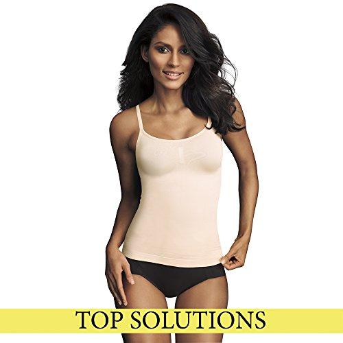 Maidenform Mujer Flexees Shapewear Seamless camiseta de tirantes Blanco