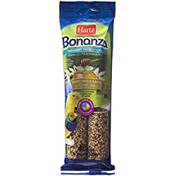 Hartz Bonanza Honey Vanilla Flavored Parakeet Treat Sticks - 4 Pack