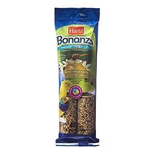 Hartz Bonanza Honey Vanilla Flavored Parakeet Treat Sticks - 4 Pack 78