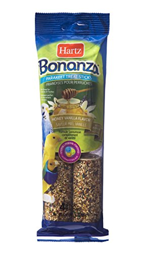 Hartz Bonanza Honey Vanilla Flavored Parakeet Treat Sticks - 4 Pack