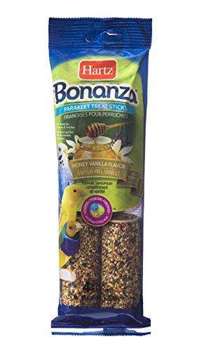 HARTZ Bonanza Parakeet Bird Treat Sticks - Honey Vanilla - 4 Pack by HARTZ
