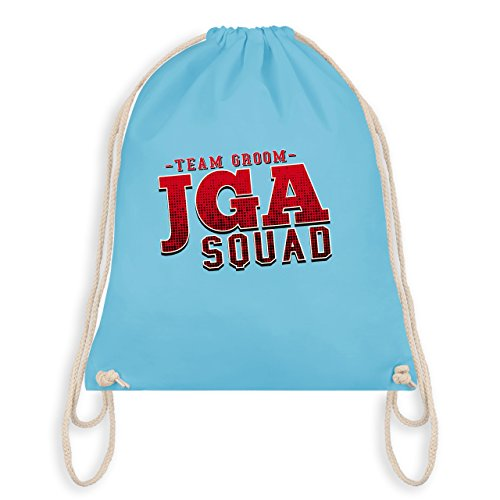 Shirtracer JGA Junggesellenabschied - JGA Squad Team Groom - Turnbeutel I Gym Bag Hellblau