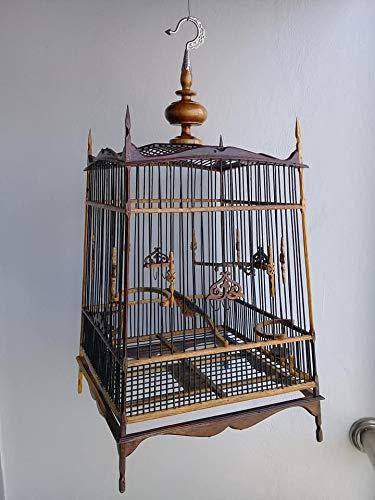 Amazon com : Asian sunset Smoked Teak & Bamboo Bird cage