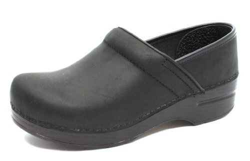 Professional Stapled Clog By Dansko Unisex Nursing Shoe Black Oiled Size 37 EU by Dansko