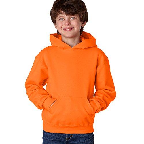 Jerzees Youth NuBlend Hooded Pullover Sweatshirt (Safety Orange) (Medium) (Boys Orange Sweatshirt)