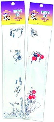 Sea Striker 2P-3PK Mono 2 and 3 Drop Bottom Fishing Rig