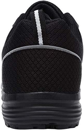 Lavoro Lm8038 In Traspirante Scarpe Leggere Donna Acciaio Antiscivolo Antinfortunistica Nero Sneaker Src Scuro Da Punta qvtH0vRw