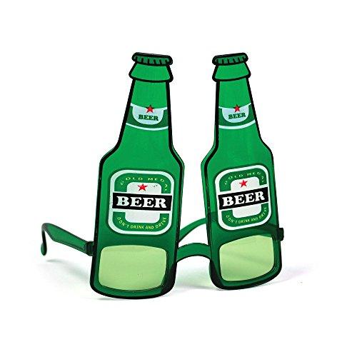 Bristol Novelty BA278 Beer Bottle Glasses, Unisex-Adult, One -