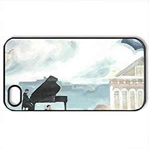 dream - Case Cover for iPhone 4 and 4s (Monuments Series, Watercolor style, Black)