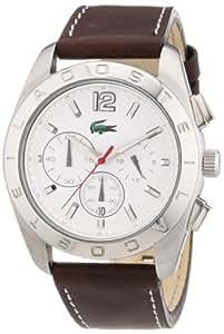 Lacoste 2010608 - Reloj analógico de cuarzo para hombre con correa de piel, color marrón