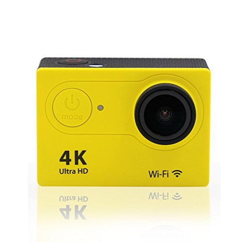 Xuanhemen H9 Action Camera 4K WiFi Waterproof Sports Cam 170 Degree Wide-Angle Lens Sports Camera Camcorder - Flip Video Underwater Case