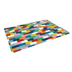 "Kess InHouse Project M ""Bricks"" Indoor/Outdoor Floor Mat, 5-Feet by 7-Feet"