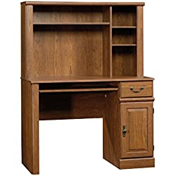 "Sauder 418649 Hutch Desk, 42.598"" L x 19.449"" W x 56.299"" H, Milled Cherry"