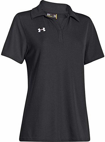 Under Armour Golf Womens UA Performance Polo Black/White Polo Shirt MD (US 8-10)