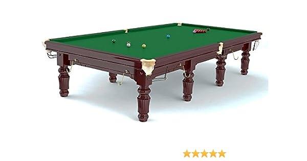 Mesa de Snooker Robertson Tournament 8 pies, de madera de arce maciza, color caoba barnizado: Amazon.es: Deportes y aire libre