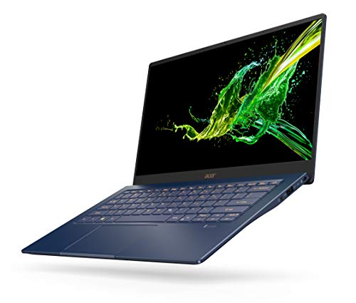 """Acer Swift 5 SF514-54T 10thGeneration Ci5-1035G1,8GB RAM,512GB SSD 14"""" Full HD Touch Screen Windows 10 Laptop 2021 July Swift 5 SF514-54T 10thGeneration Ci5-1035G1 Quad-core (4 Core) SPEED : 1.00 GHz upto 3.6GHz Processor HDMI Yes USB Yes Number of USB 2.0 Ports 1 Total Number of USB Ports One USB 3.1 port with power-off charging, One USB Type-C TM port with DCin (Thunderbolt 3) Includes 14.0"""" display with IPS Full HD 1920 x 1080 Wireless LAN Yes Wireless LAN Manufacturer Intel Wireless LAN Model Intel Wireless Wi-Fi 6 AX201802.11a/b/g/n/acR2+ax Wireless LAN Standard IEEE 802.11 a/b/g/n+ac+ax Bluetooth Yes Bluetooth Standard 5.0"""