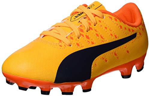 Puma Evopower Vigor 4 Ag Jr, Botas de Fútbol Unisex Niños Naranja (Ultra Yellow-Peacoat-Orange Clown Fish 03)