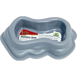 Zilla Plastic Durable Dish Grey Small
