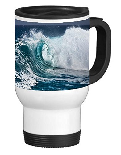 Totally Tubular Wave 14 ounce Stainless Travel Mug Thermos