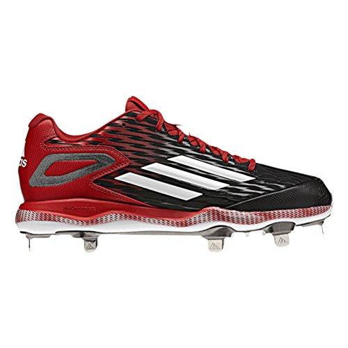 Adidas Poweralley 3 Mens Baseball Tacchetto Nero-bianco-rosso Di Alimentazione