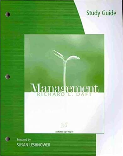Book Study Guide for Daft's Management by Richard L. Daft (2009-03-02)