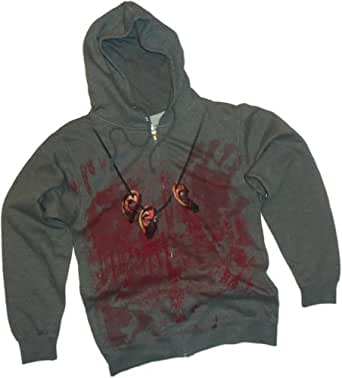 Daryl Dixon Costume -- The Walking Dead Hoodie Zipper-Fleece Sweatshirt, XX-Large