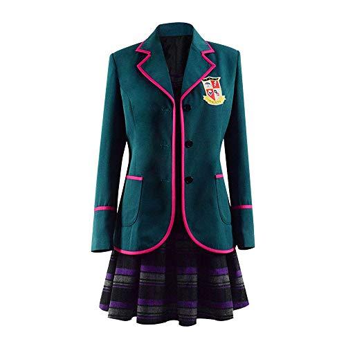 Updayday Umbrella Academy Cosplay Disfraz Halloween número Cinco Uniforme Escolar Cosplay Vestido Chaqueta Disfraz Conjunto Completo Chaqueta para Mujeres niñas