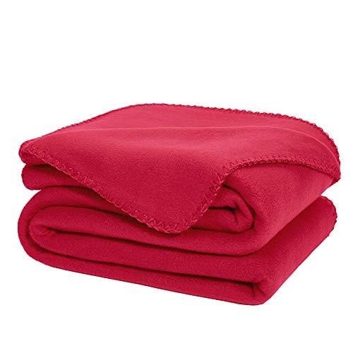 DOZZZ Super Soft Oversized Fleece Throw Blanket Burgundy Ult