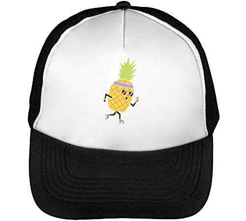 Hombre Pineapple Blanco Snapback Negro Beisbol Roller Gorras ZURwZE