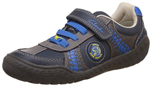 Clarks Kids Stomp Roll Inf - Zapatillas Niños Azul (Blue Combi Lea)