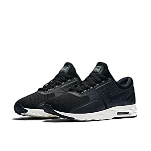 Nike Womens Air Max Zero Black/Black-Sail 857661-002 (12 M US)