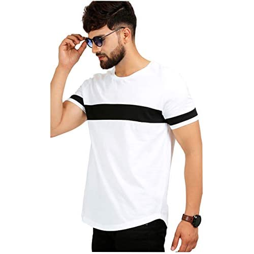 41c9UP2oTRL. SS500  - AELOMART Men's Cotton T Shirt-(Amt1072-P_White)
