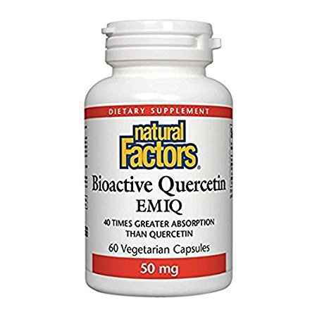 Natural Factors Bioactive Quercetin EMIQ 50mg, 60 Vegetarian Capsules