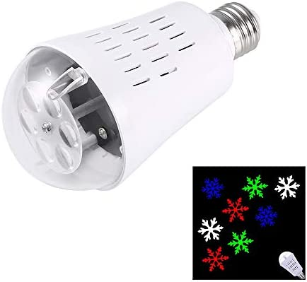 E27 4W Bombilla LED RGBW del patrón del copo de nieve la luz del ...