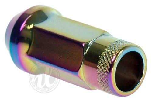 Muteki 32905N SR Series Neon Chrome 12mm x 1.25mm SR48 Open End Lug Nut Set, (Set of 20) by MUTEKI (Image #4)