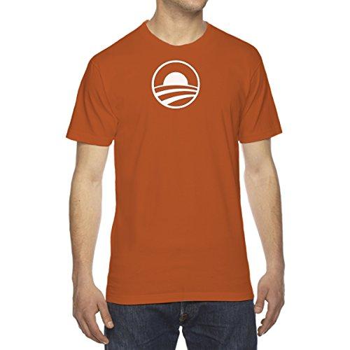 Men's Barack Obama President Hope T-Shirt - XX-Large SUNSET ORANGE
