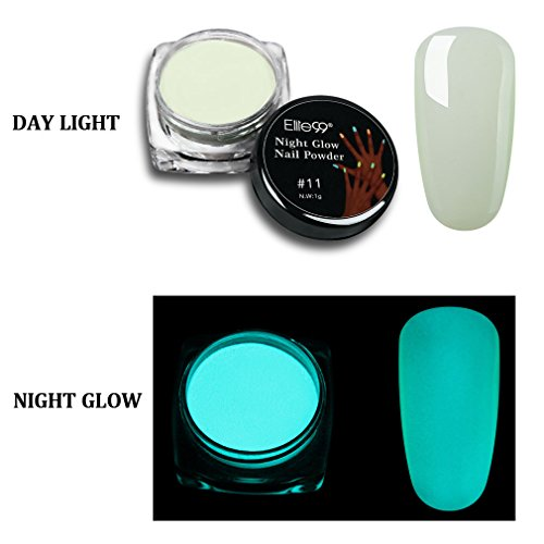 Elite99 Nigt Glow Nail Powder Glow in The Dark Luminescent F