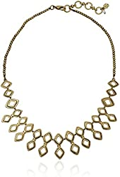 Lucky Brand Gold-Tone Open-Work Collar Necklace