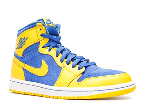 NIKE Men's Air Jordan 1 Retro High OG Sneakers Varsity Maize/White/Game Royal 555088-707 (SIZE: 11)