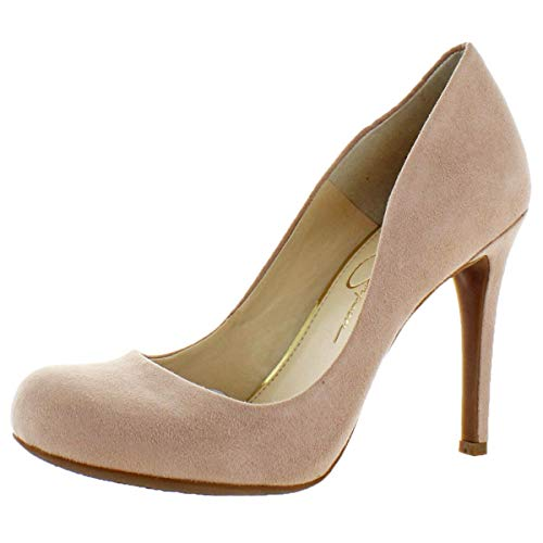 Jessica Simpson Women's Calie Round Toe Classic Heels Pumps Shoes Pink Size 8 (4 Inch Heel Mule)