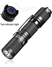 LED handheld Flashlight Torch,Pocket-Sized Torch ,Small EDC Flashlight Torch- LUMINTOP Tool AA 2.0, 2019 New Recommend Super Bright 650 Lumens, 5 lighting Modes with Mode Memory, IP68 Waterproof, Powered by AA or 14500 ,Perfect for EDC ,Dog Walking ,Camping , Hiking, Emergency etc