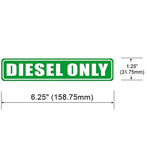 "6.25/"" X 1.25/"" DIESEL ONL Sign Back Self Adhesive Vinyl Label Sticker 3 Pack"