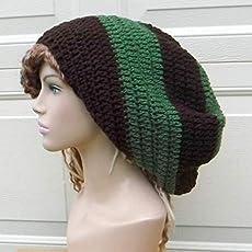 c3d672f4d Amazon.com: Handmade Cotton hippie dread tam hat slouchy beanie ...
