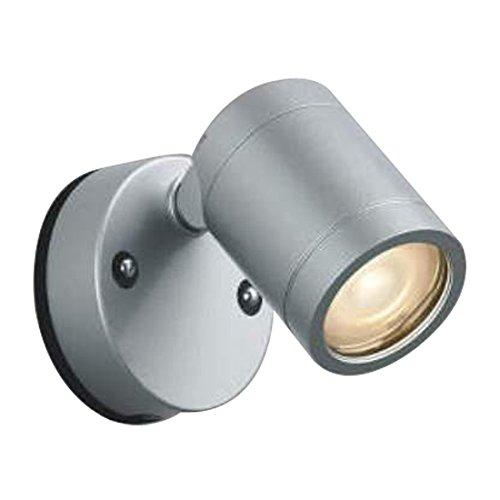 コイズミ照明 LED防雨防湿型シーリング直付壁付両用型(白熱球60W相当)電球色 AU38478L B00DS2VKXI  シルバーメタリック
